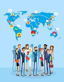 ビジネス関係者グループソーシャルネットワークコミュニケーションコンセプト
