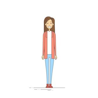 若い女の子のヒップスターカジュアル服全身