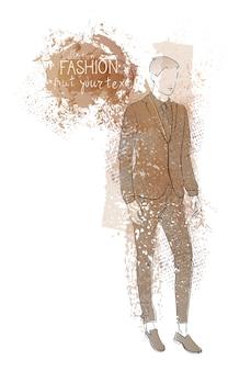 ファッションコレクションの洋服男性モデル