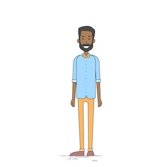 若いアフリカ系アメリカ人男性ヒップスターカジュアル服