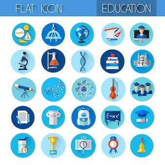 教育コレクションカラフルなアイコンセット