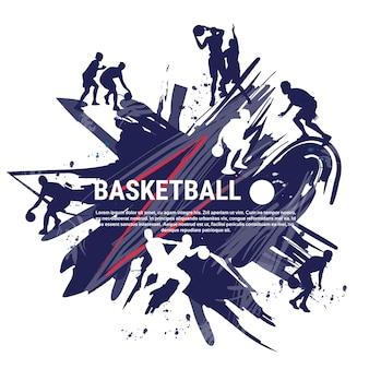 バスケットボール選手スポーツマンスポーツコンペティションロゴバナー