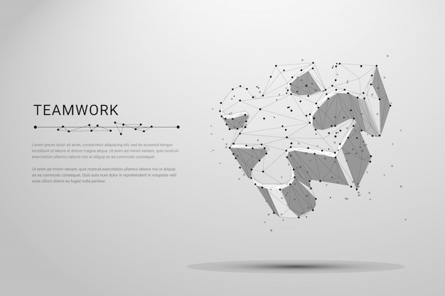 白の抽象的な分離パズル