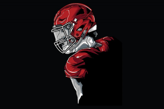 フットボール選手の図