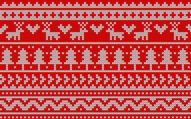 ニットクリスマスのパターン。