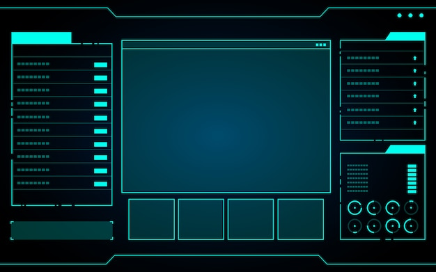 青色の抽象的な技術インターフェイス