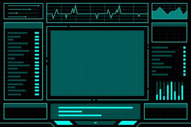 ブルー抽象的なテクノロジーインターフェースハド