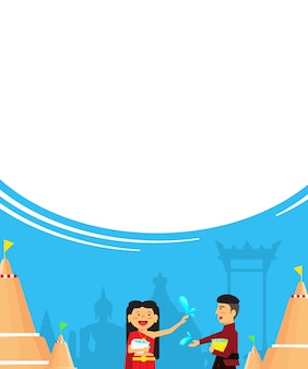 Праздник таиланда сонгкран, новый год таиланда