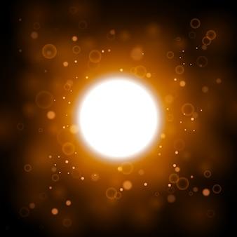 太陽光のような黄色の光