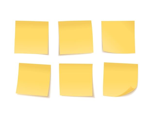 Набор желтых липких нот