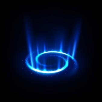 スパークリングで青い螺旋を回転させる