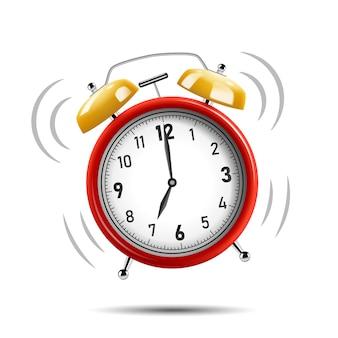 現実的な赤い目覚まし時計の呼び出し音