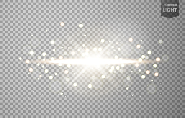 太陽の光がレンズフレアで輝きます