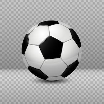 詳細なサッカーボールは、透明な背景に