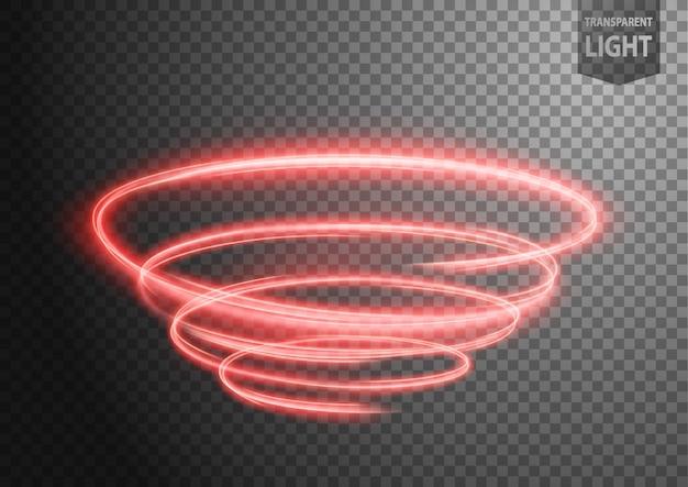 Абстрактная красная волнистая линия света