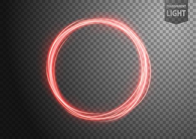 抽象的な赤い波線の光
