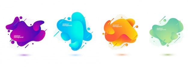 流れる液体の形をしたグラデーションの抽象的なバナー