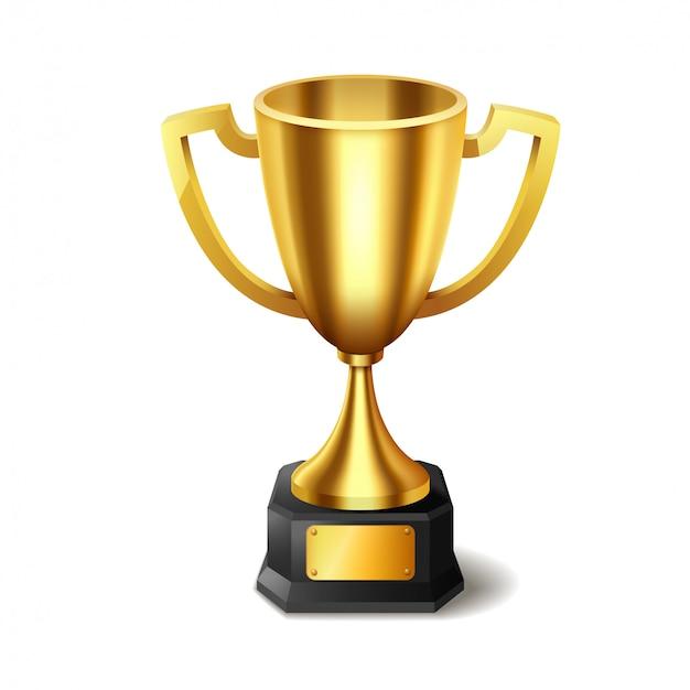 Реалистичный золотой трофей