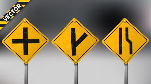 Предупреждающий дорожный знак установлен
