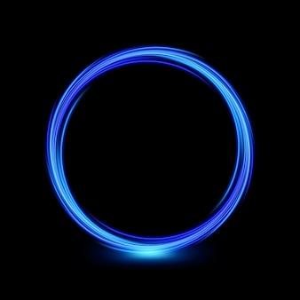 Абстрактная многоцветная круговая линия света
