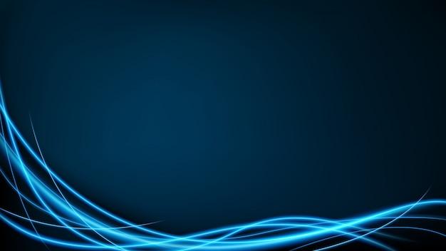 Абстрактный синий неоновый вектор движения