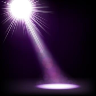 Эффект прожектора освещен
