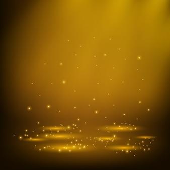 Золотые прожекторы с подсветкой