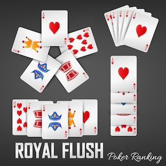 ロイヤルフラッシュポーカーランキングカジノセット