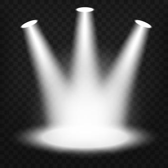 Прожекторы, светящиеся на прозрачном фоне