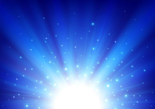 青い光が輝く背景