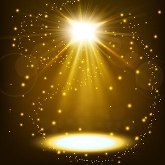 スプリンクルを浮かべて輝くゴールドスポットライト