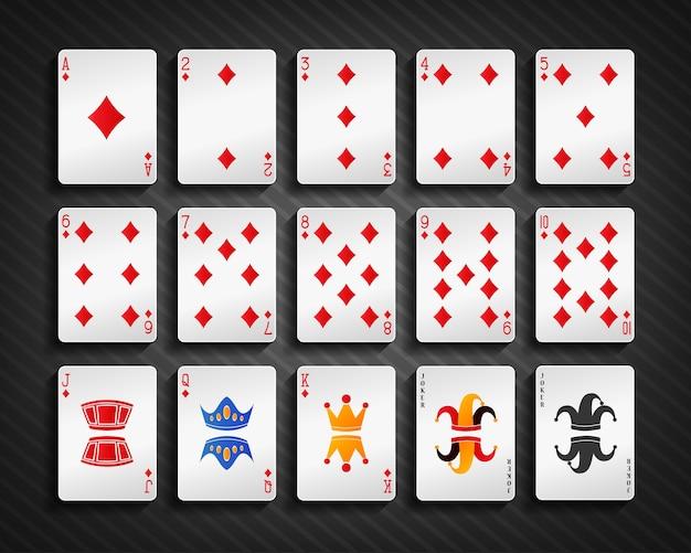 Набор бриллиантов покера