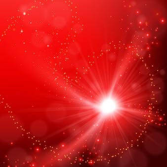抽象的なエレガントな赤い輝きの背景の背景