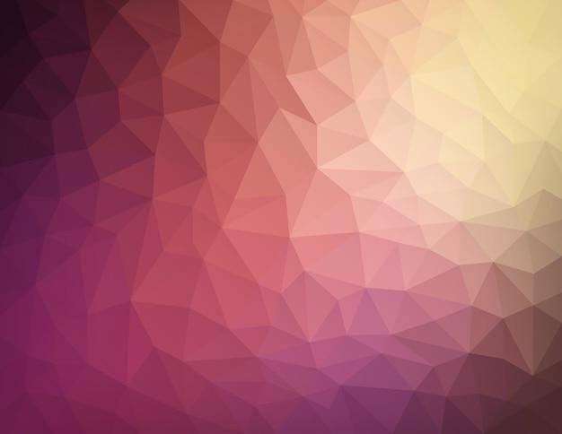 抽象的な自然幾何学的三角形低ポリ