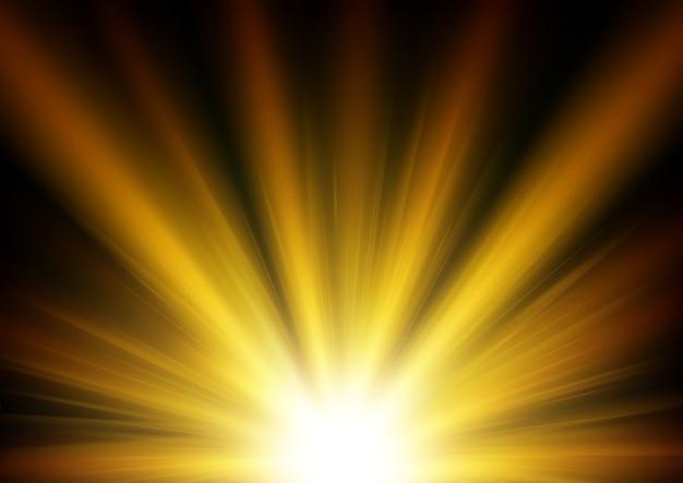 Освещенный золотой светлый фон