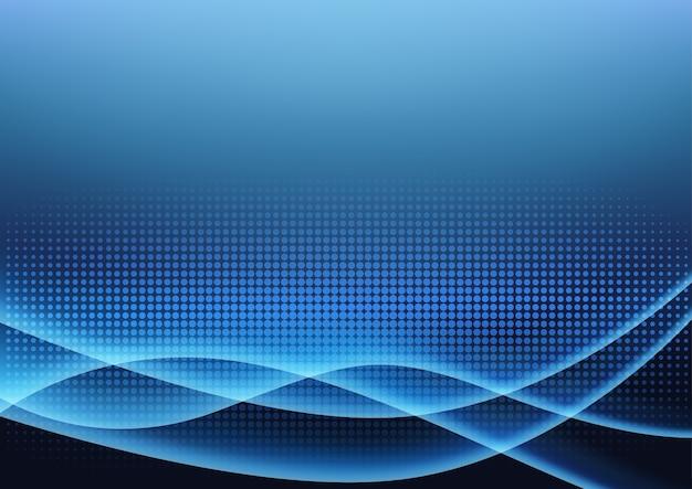 未来の青い光の輝く背景