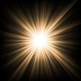 暗闇から輝く光