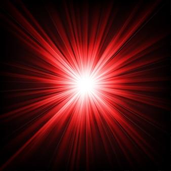 暗闇から輝く赤い光