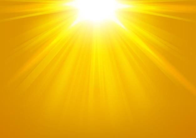 明るい背景に輝くゴールドのライトベクトル図