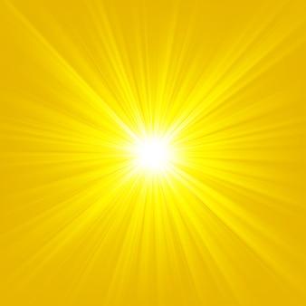 明るい背景に輝くゴールドライトベクトル図