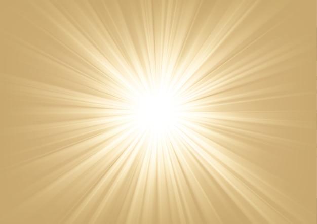 明るい背景に輝く光ベクトル図