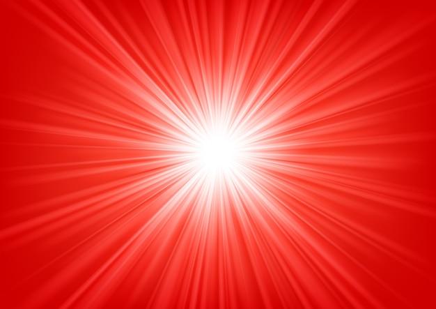 明るい背景に輝く赤い光ベクトル図