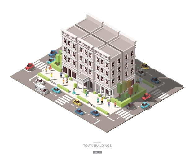 アイソメの町の建物