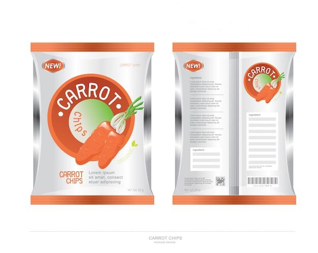 Дизайн упаковки вегетарианской морковной крошки
