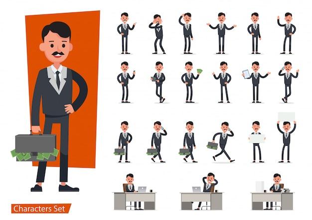 Набор бизнесмен характер