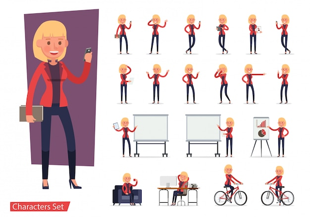 Набор офисного работника персонажа