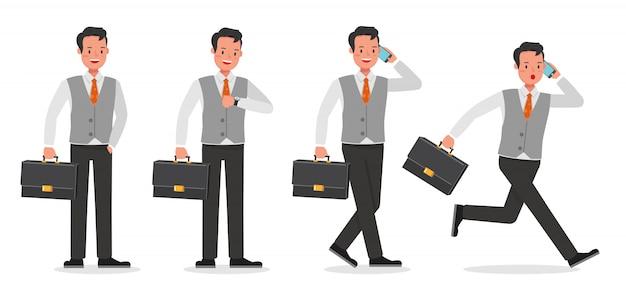 ビジネスマン作業文字セット