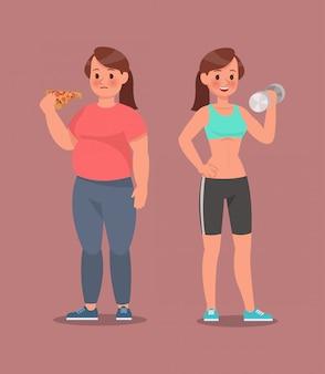 Фитнес-набор символов