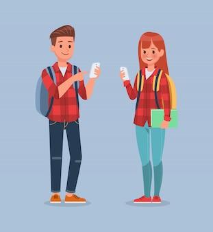 学生キャラクターセット