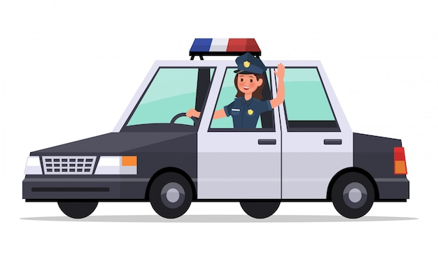 Полицейский дизайн персонажей